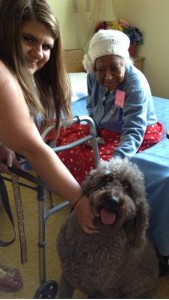 Commander_nursing_home_with_Miss_Ida_Mae_Ellis_and_Samantha