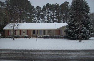 Our home in Timmonsville. SC Jan. 2011